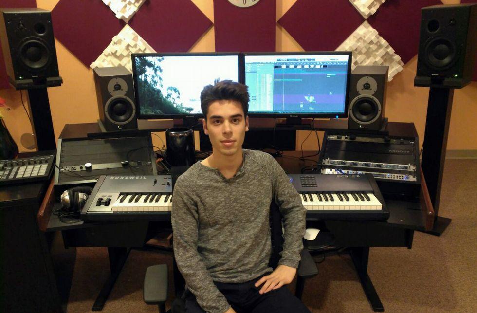 Aaron Sibert-Sio, de 19 años, estudia en la universidad de Rochester con el maestro Octavio Vázquez.