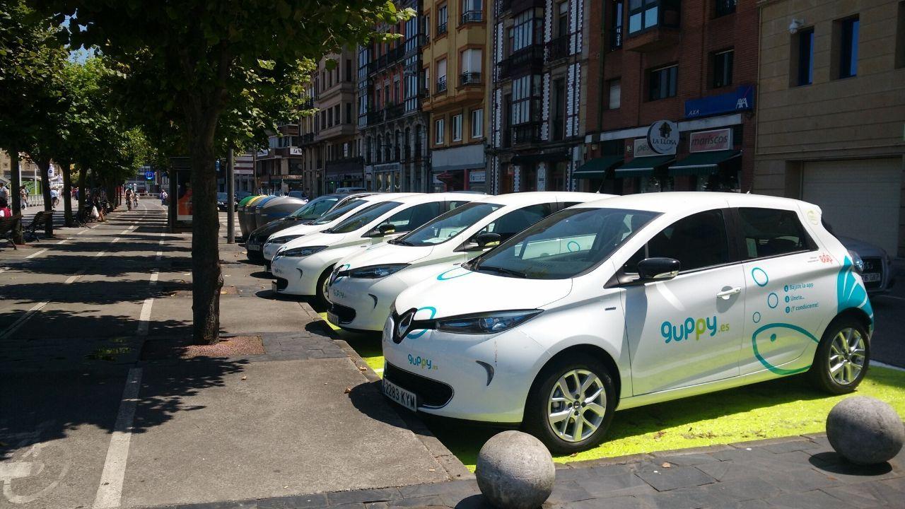 Coches eléctricos de uso compartido en Gijón