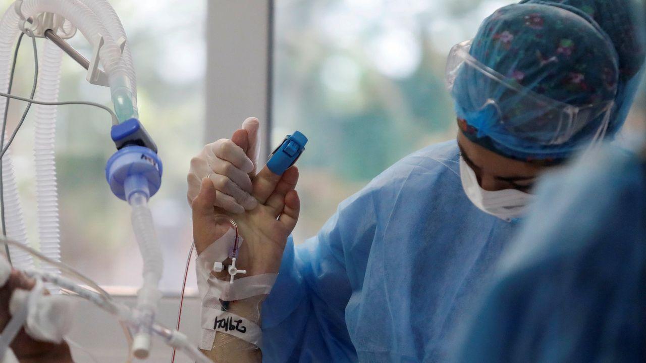 Alberto Ortega | Europa Press.Una enfermera en el hospital de Sotiria, en Atenas