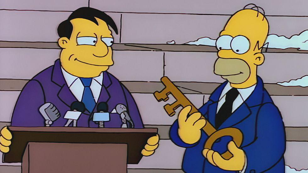 Los 100 días de Trump en el poder, según «Los Simpson».Presentación de La Zona en el Festival de Sitges