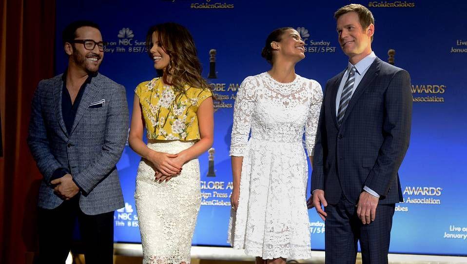 Los mejores momentos de los Globos de Oro.Los presentadores de las nominaciones.
