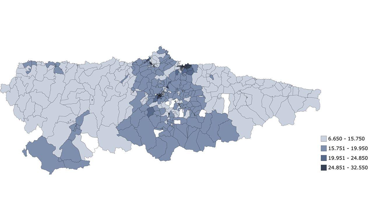Atlas de Distribucio?n de Renta de los Hogares, Unidades territoriales, Mediana de la renta por unidad de consumo, 2018