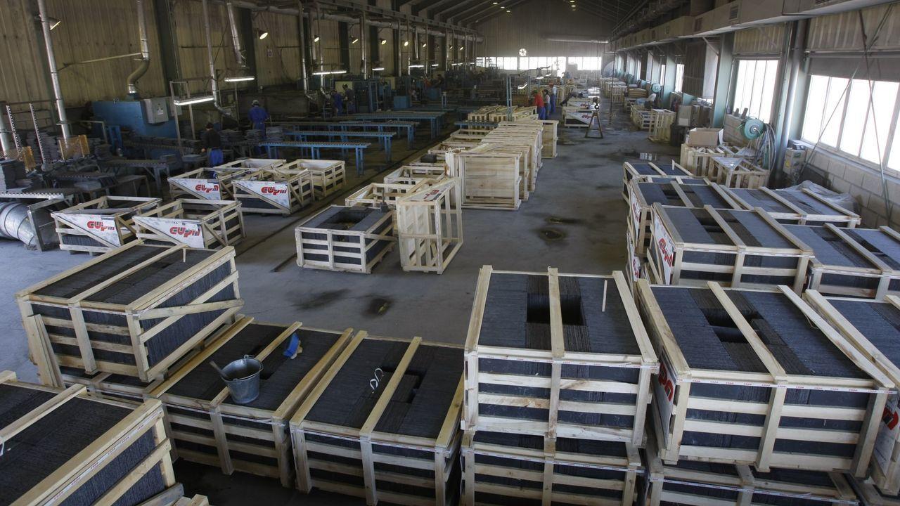 Rodrigo Rato.La pizarrera Cupa tiene su fábrica en Carballeda de Valdeorras