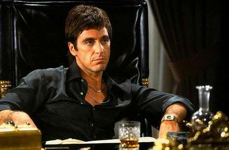El último entrenamiento del Real Madrid antes de la final.Al Pacino como Tony Montana en una escena de «El precio del poder».