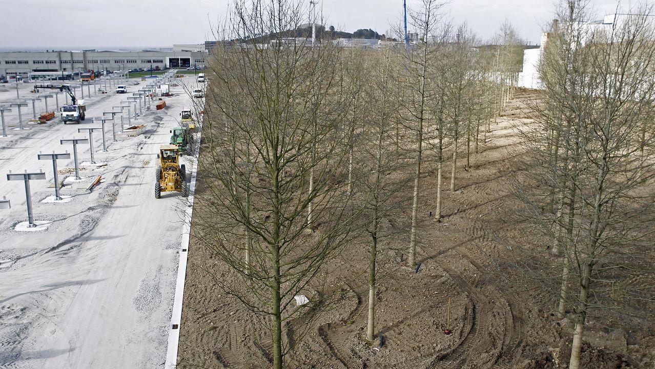 green.La nueva parcela de Inditex servirá para ampliar la fachada de su conjunto industrial