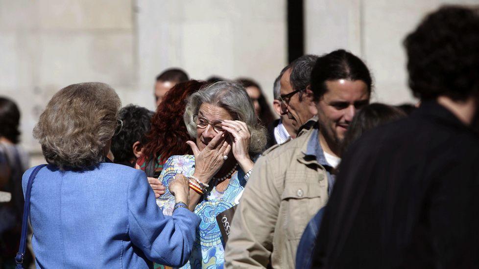 Emoción en la concentración de A Coruña.