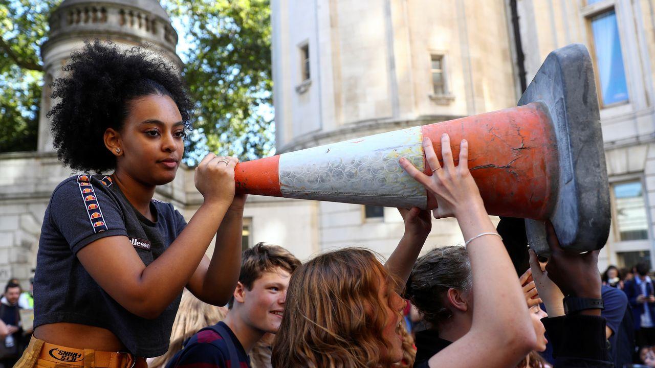 Activistas en Londres