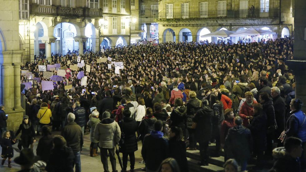 Palacio de Justicia del Principado de Asturias.La marcha feminista del pasado 8M fue una de las concentraciones más numerosas