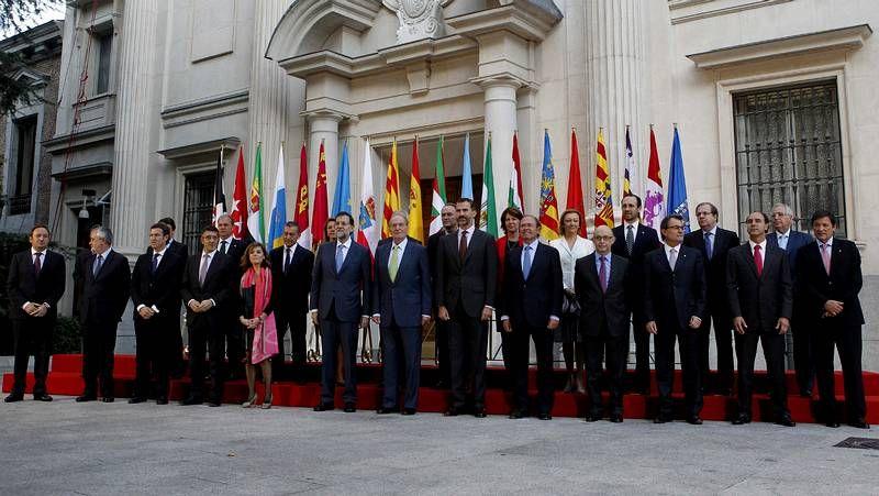 Conferencia de Presidentes en el Senado.Miguel Corgos, director xeral de Planificación, y la conselleira de Economía, Elena Muñoz, ayer en el consejo de política fiscal.