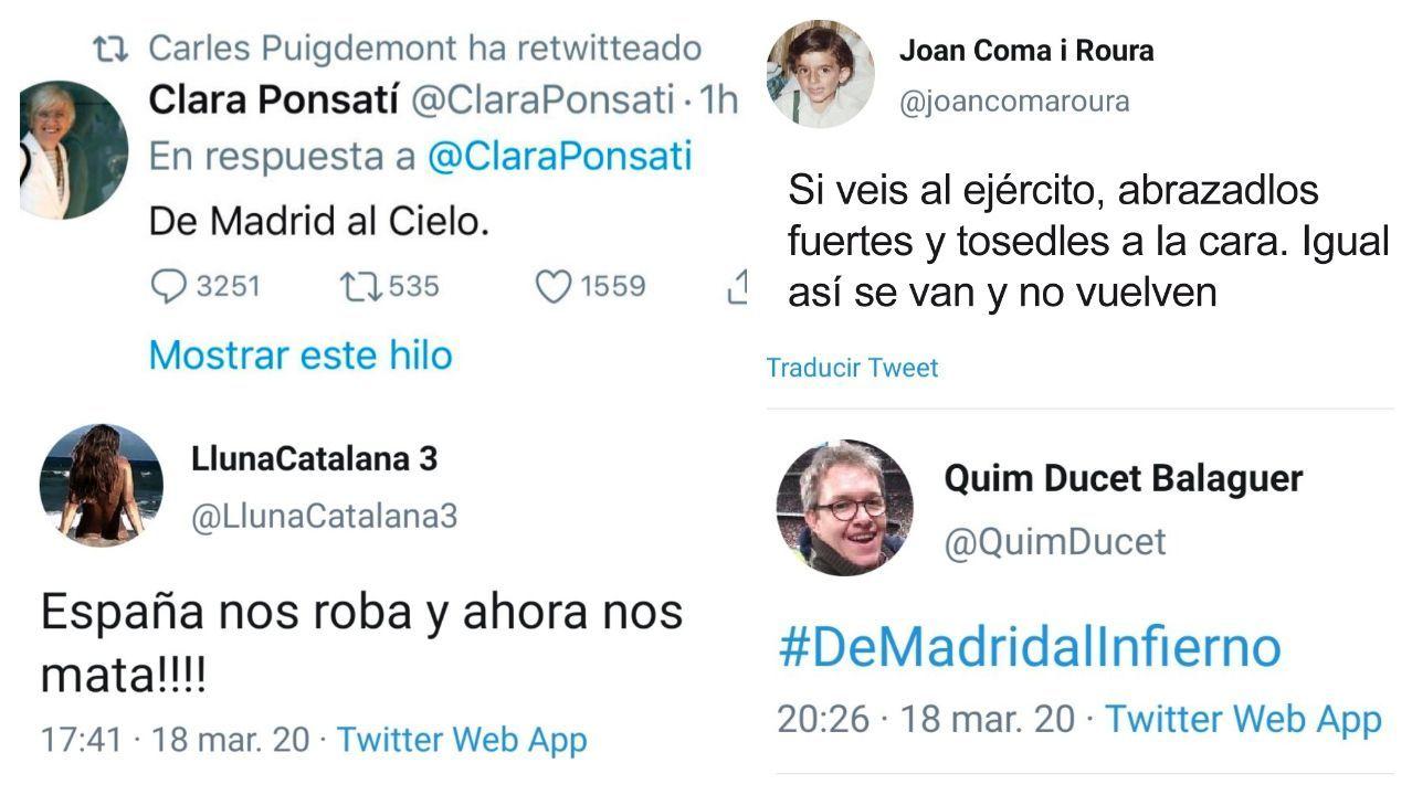 El ofensivo mensaje de la exconsejera Clara Ponsatí fue retuiteado por Puigdemont