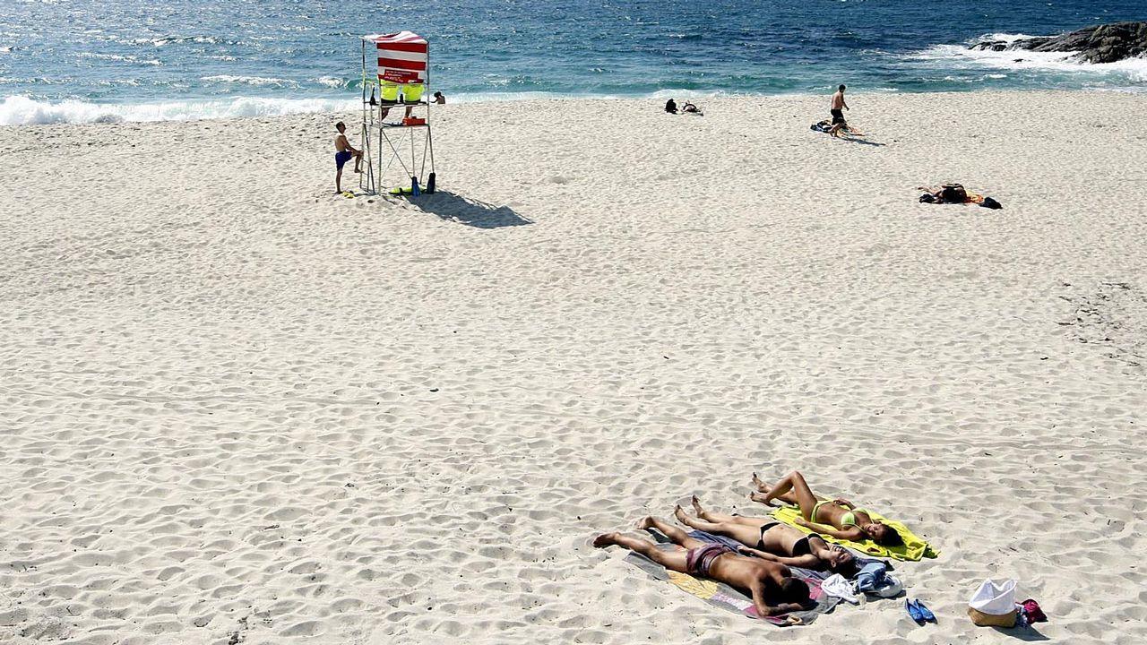 Playa de Fortiñon, en Vigo