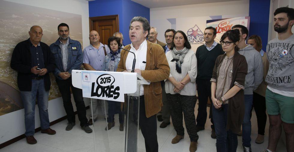 Lores se rodeó de su candidatura para anunciar sus medidas para los primeros cien días.
