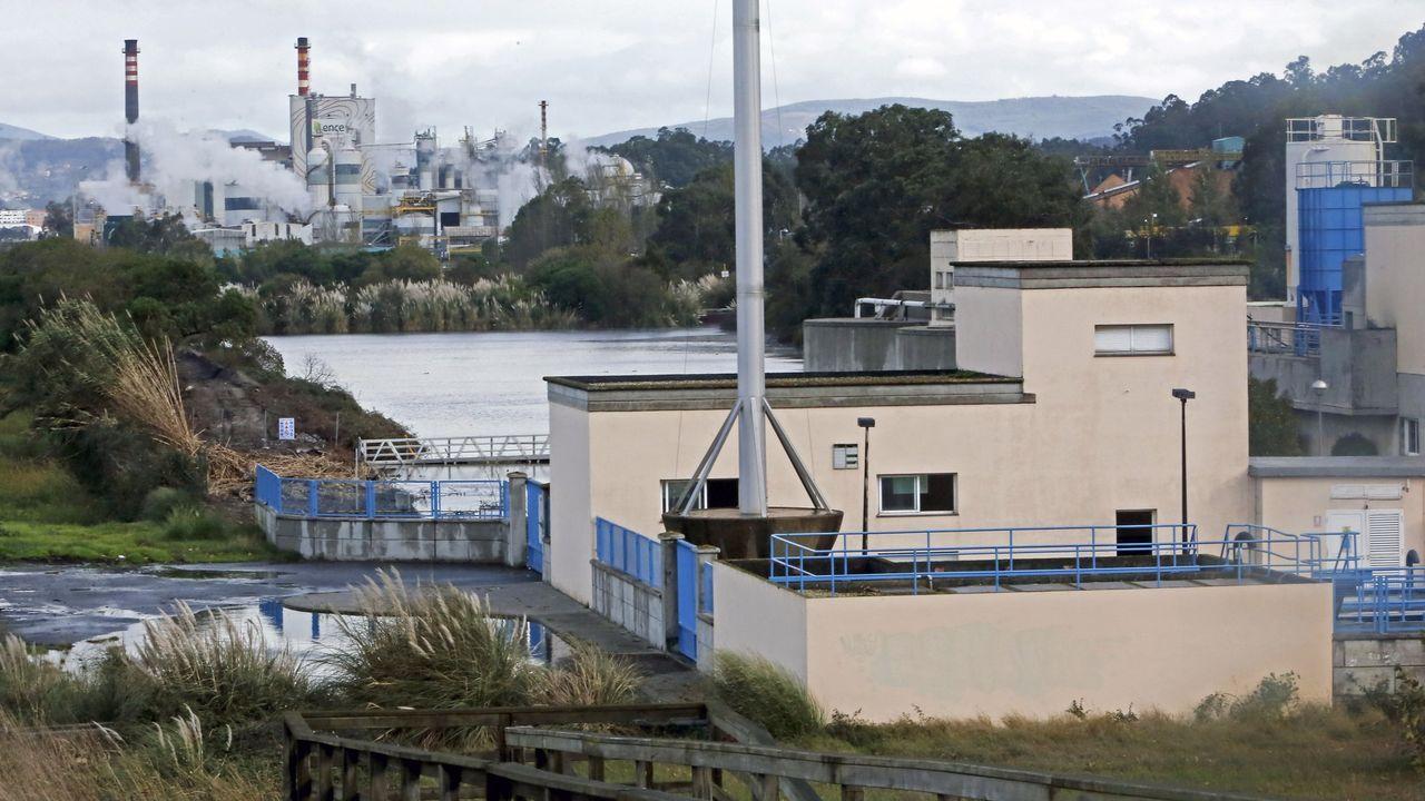 La depuradora de residuales de Os Praceres, en la parroquia de Lourizán, en Pontevedra