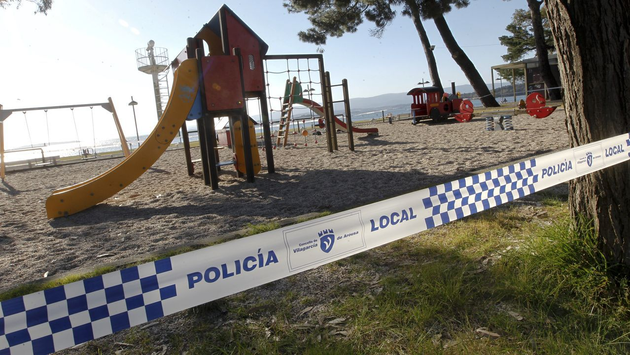 Los municipios de Arousa, al igual que el resto, cierran los parques infantiles para evitar contagios entre los más pequeños