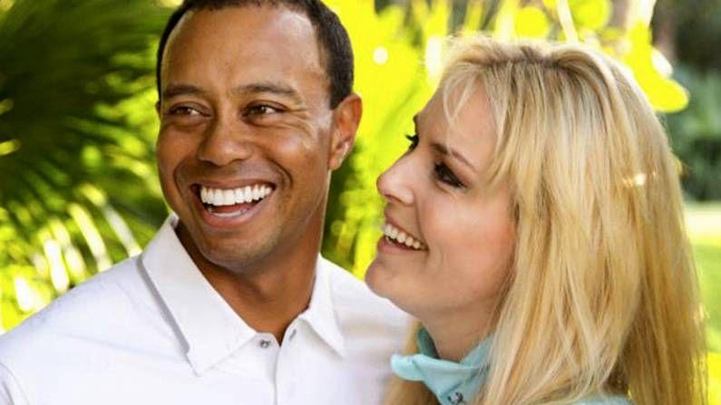 Sergio García en el torneo de Bay Hill.Lindsay Vonn y Tiger Woods