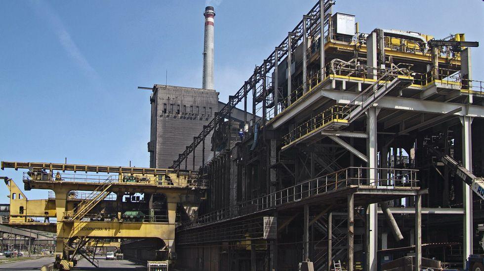 Baterías de coque de la planta de Arcelor en Gijón.Baterías de coque de la planta de Arcelor en Gijón
