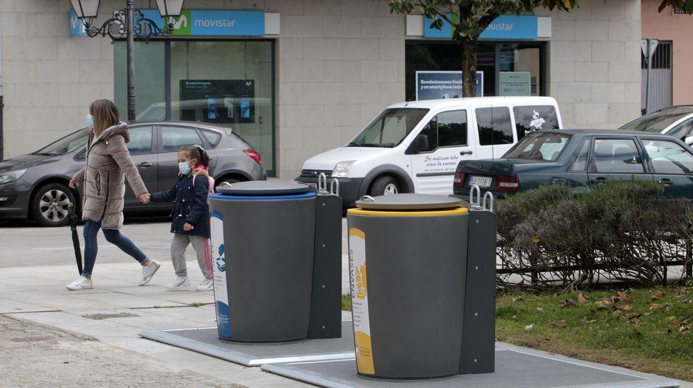 Los nuevos contenedores ya fueron instalados a la altura del Parque dos Condes