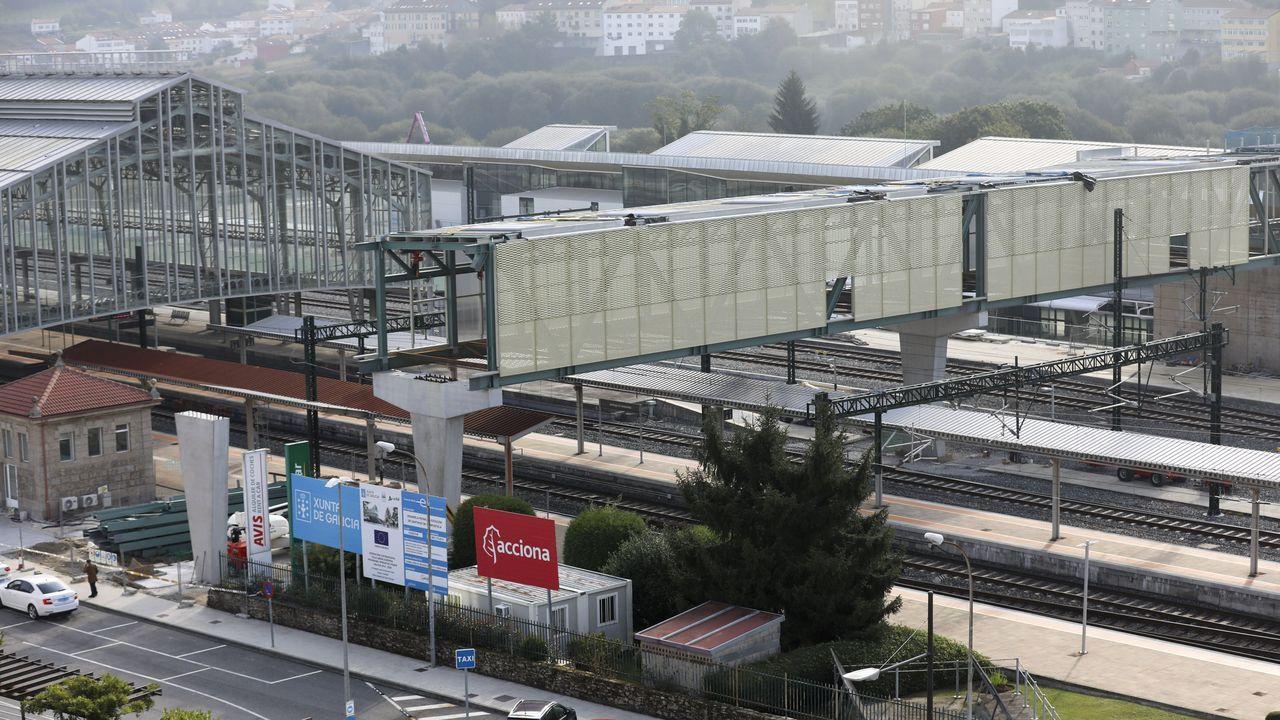 La pasarela de la intermodal entra en su fase final.La pasarela de la estación intermodal de Santiago ya está instalada