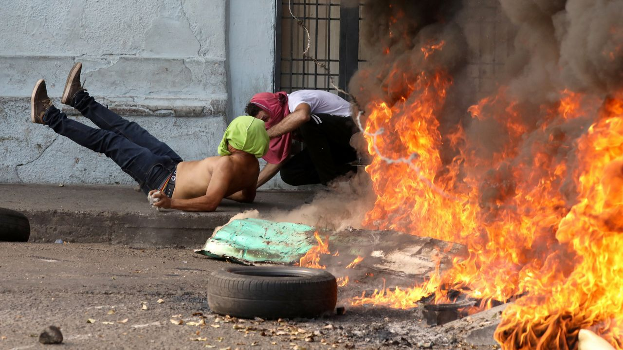 Incidentes en la frontera en Ureña, entre Colombia y Venezuela.La Palma, en una imagen tomada hace pocos días desde el castillo de San Felipe, al otro lado de la ria