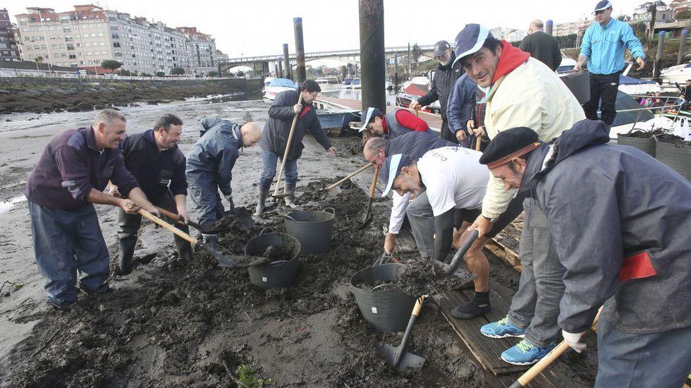 Protesta para solicitar la retirada de los lodos que ciegan el puerto deportivo de Pontevedra.David Cal, en octubre en Pontevedra