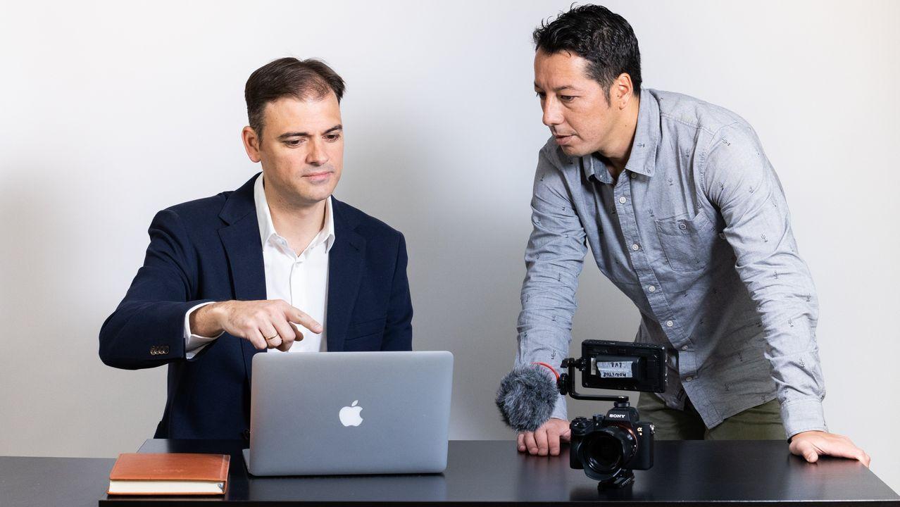 David Gómez, asesor, y Daniel Valladares, productor audiovisual, ayudan a empresas a digitalizarse