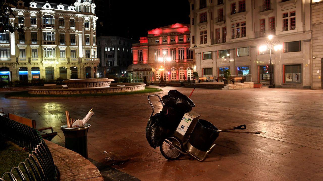 Tranquilidad en Asturias durante la primera noche sin el estado de alarma.Cría de foca gris liberada en Asturias