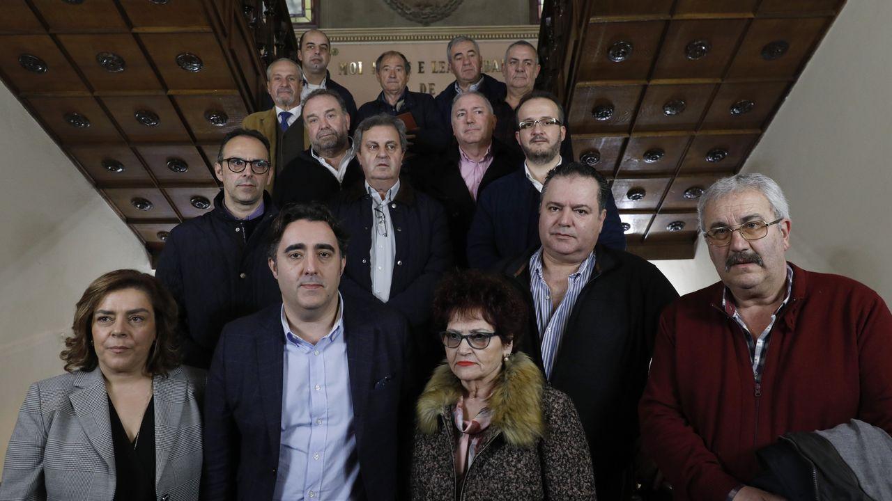 Proxecto PLAN-CT-ON en A Illa.Miembros de Galicia Baleira durante una visita al Concello de Ourense