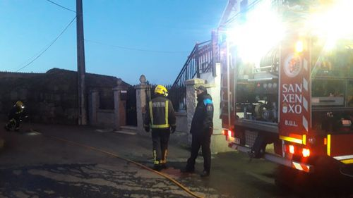 Arde una casa okupada en Poboadores