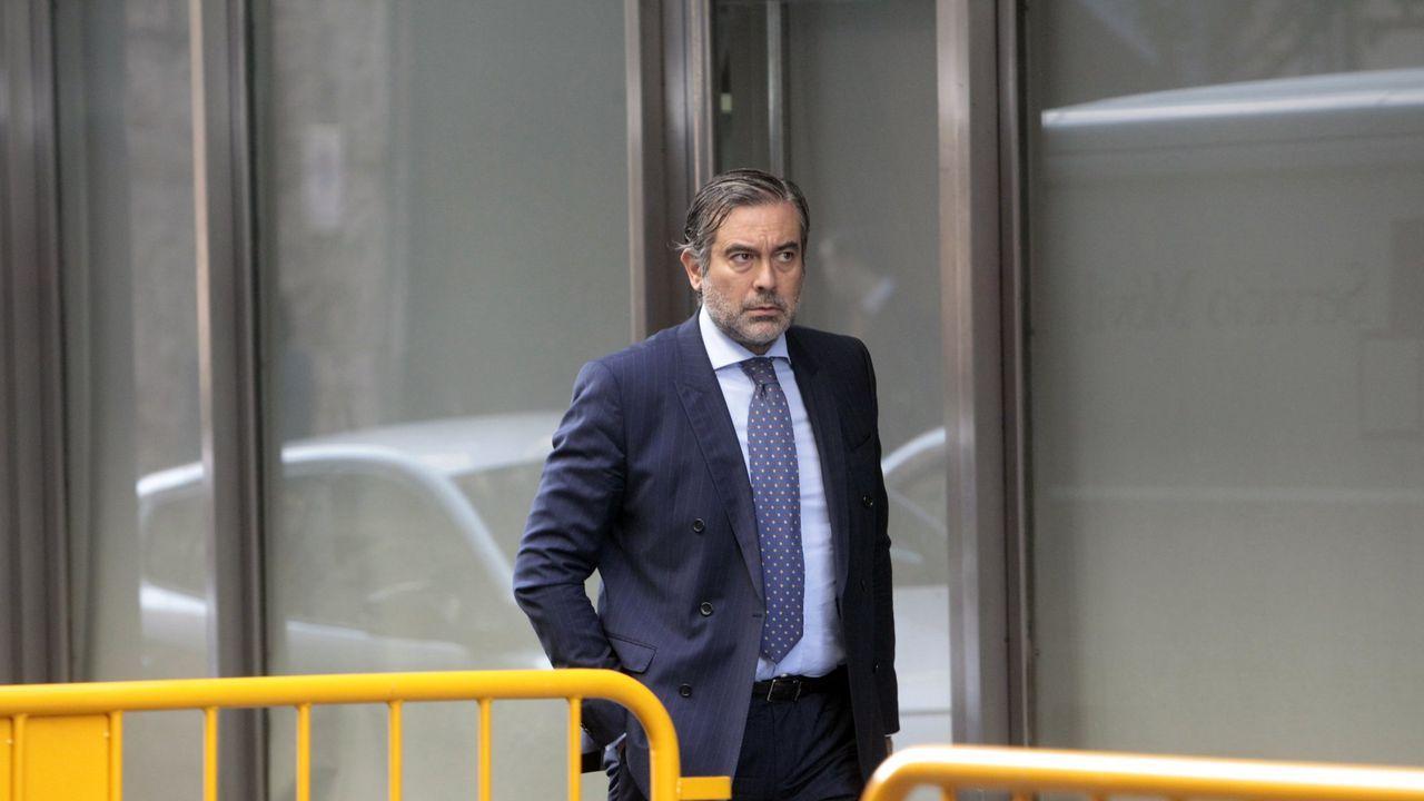 El juez Enrique López, en una imagen del 2014, a su llegada a la sede de la Audiencia Nacional de Madrid.