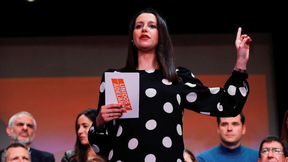 Inés Arrimadas, hoy en Madrid