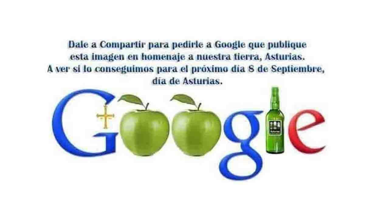 Propuesta de doodle de Google en homenaje a Asturias