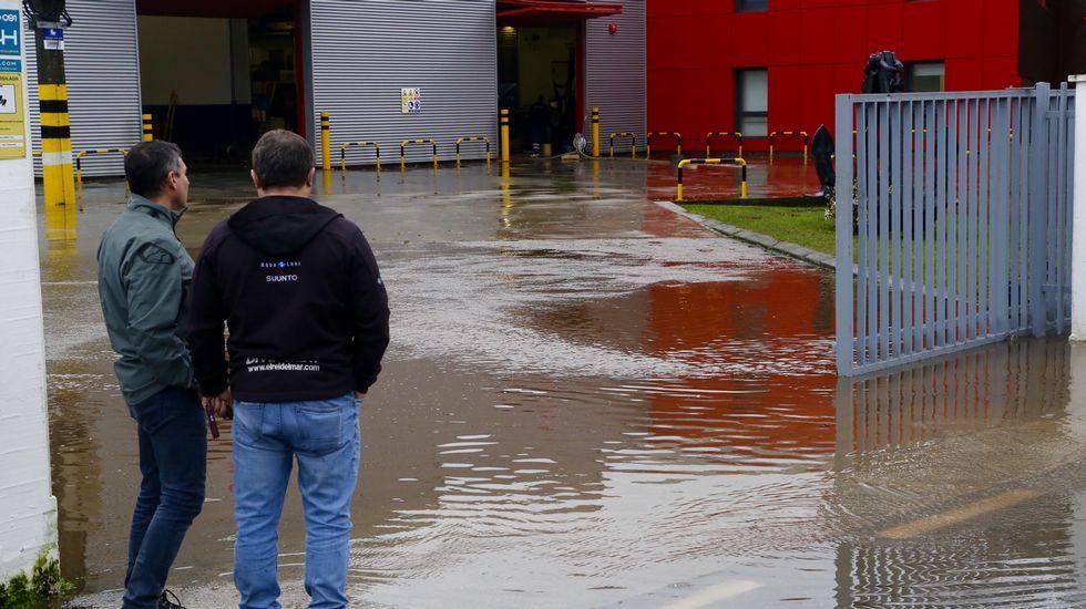 Inundaciones en los alrededores del estadio de Balaídos
