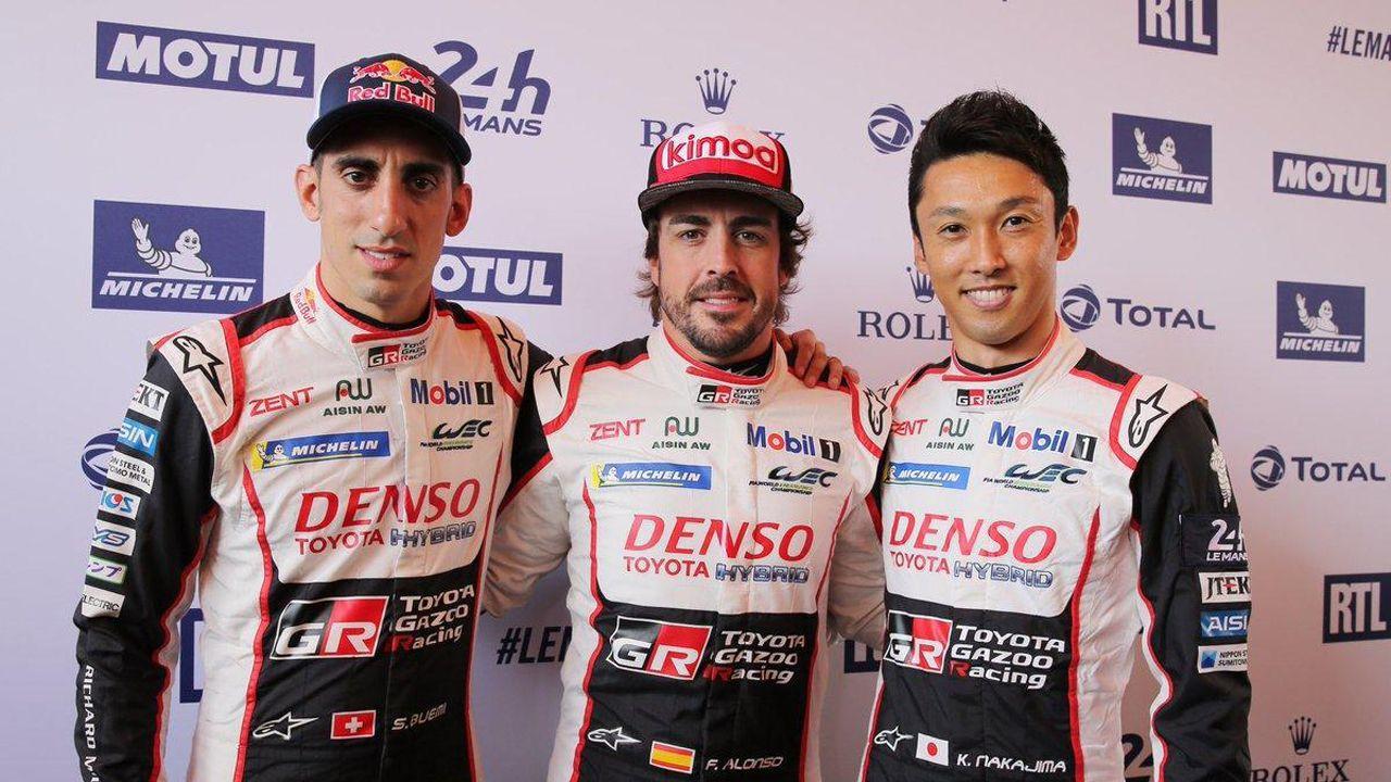 Alonso, Buemi y Nakajima