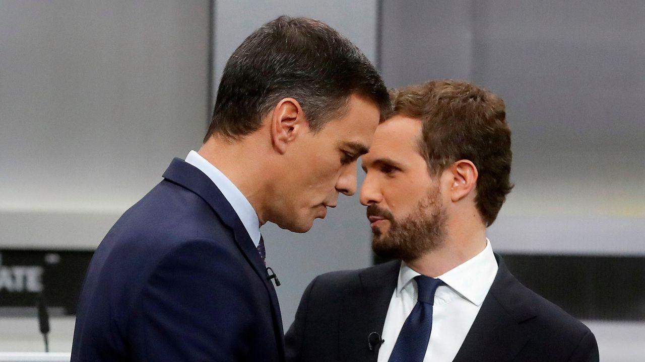 En directo: Comparece el presidente del CIS, José Félix Tezanos.Sánchez t Casado, en el debate electoral de octubre del 2019