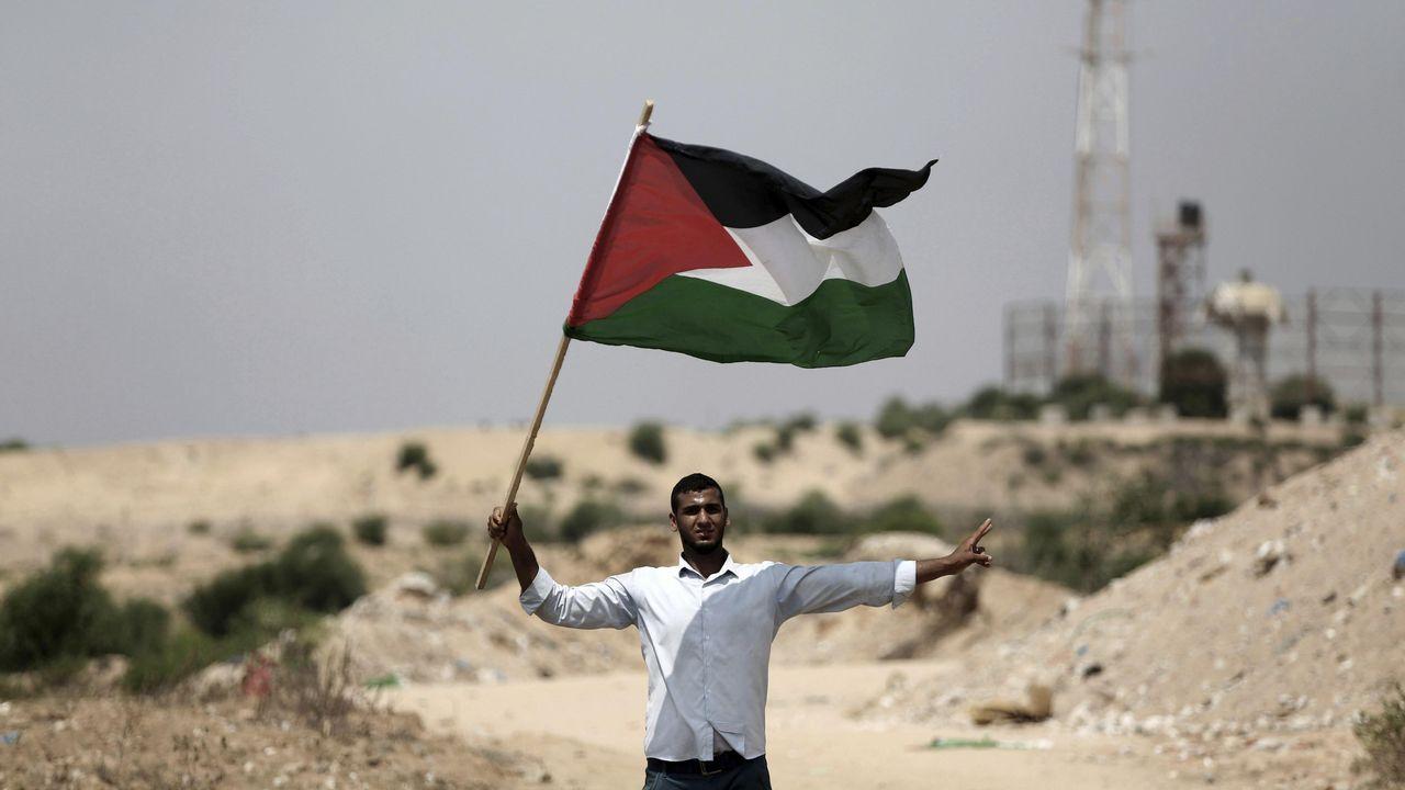 Protesta de Hamás en la Franja de Gaza