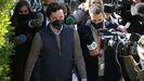 Nicolás Gómez Iglesias, este martes, a su llegada a los juzgados