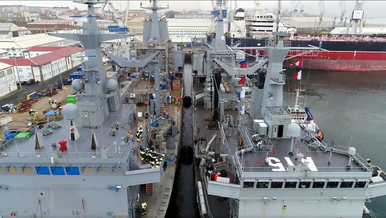 Las imágenes del 8M en Ferrol.El actual emplazamiento ya acoge los primeros barcos para las varadas de mantenimiento