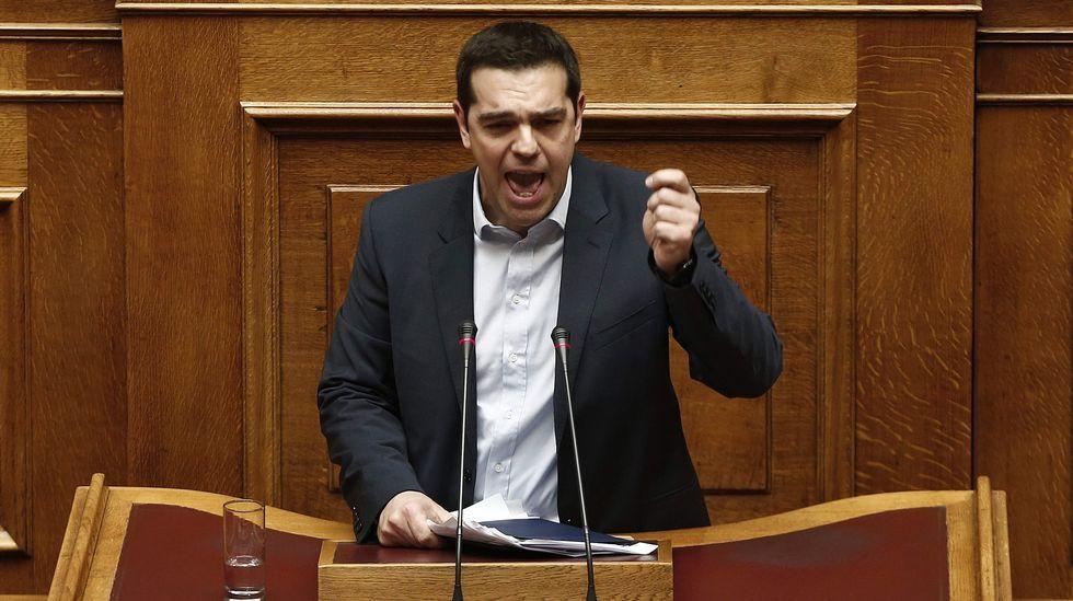 Alexis Tsipras habla ante el Parlamento griego