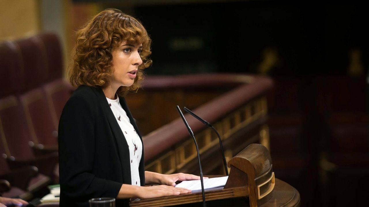 Los principales candidatos del 5A para las autonómicas.Alexandra Fernández, en el Congreso cuando era diputada de En Marea