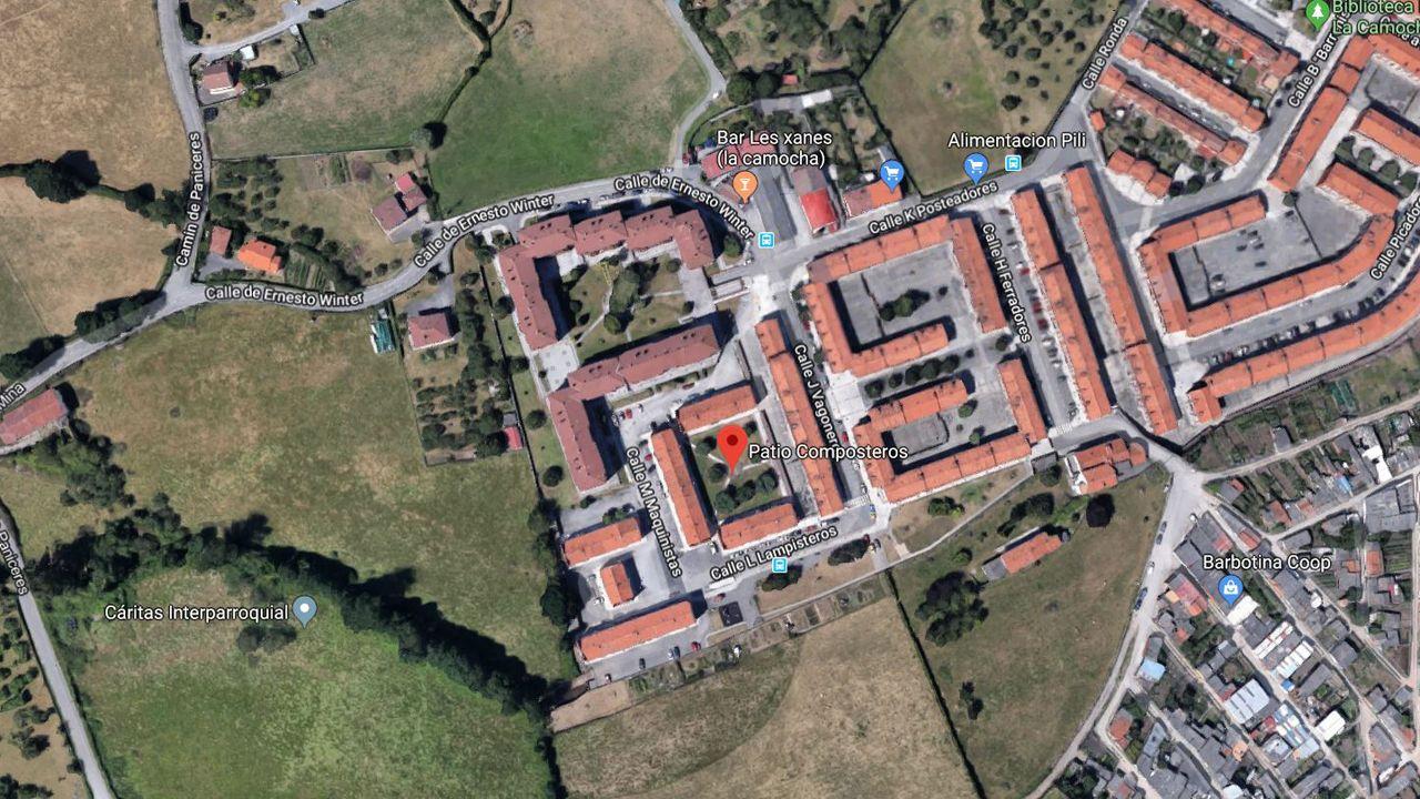 Vista aérea del barrio de La Camocha