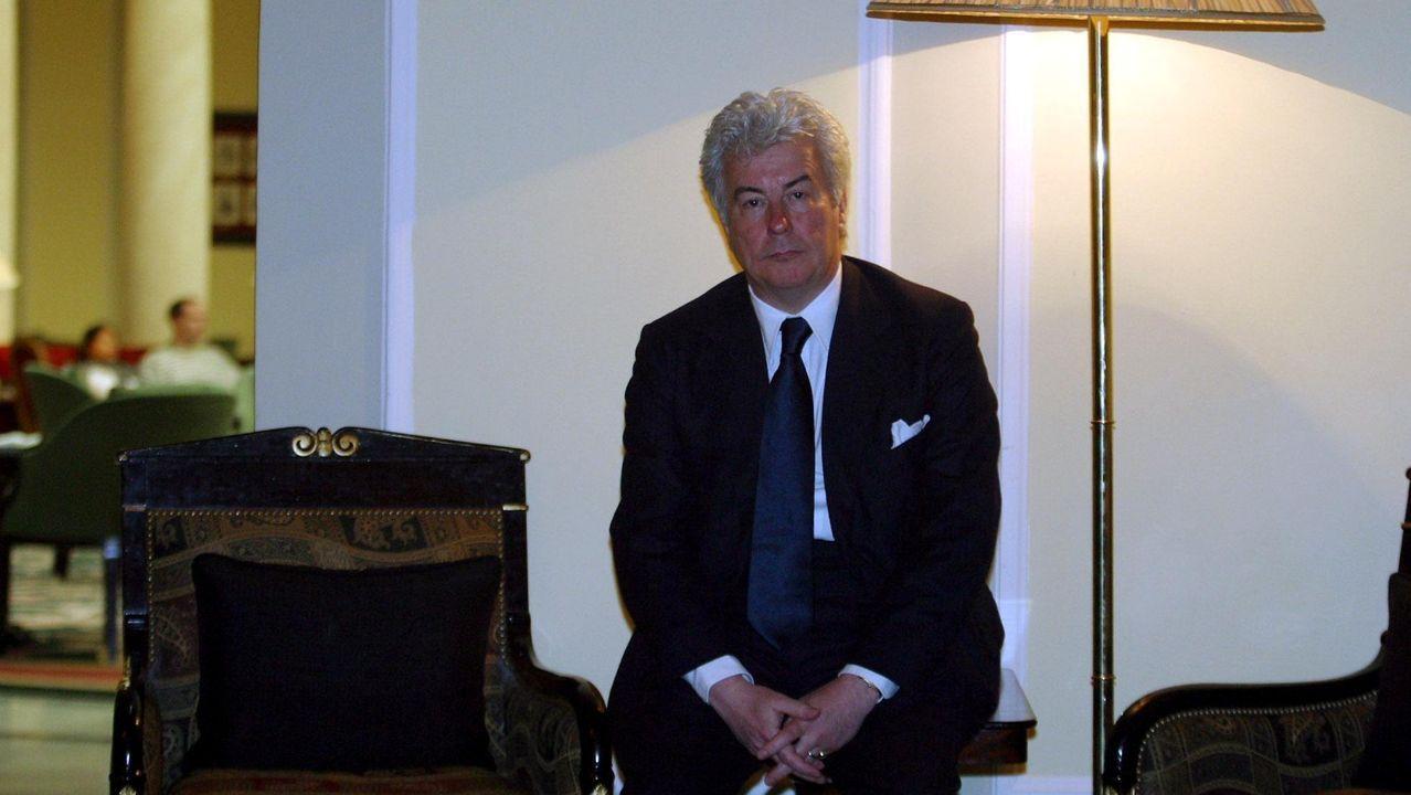 El escritor galés Ken Follett