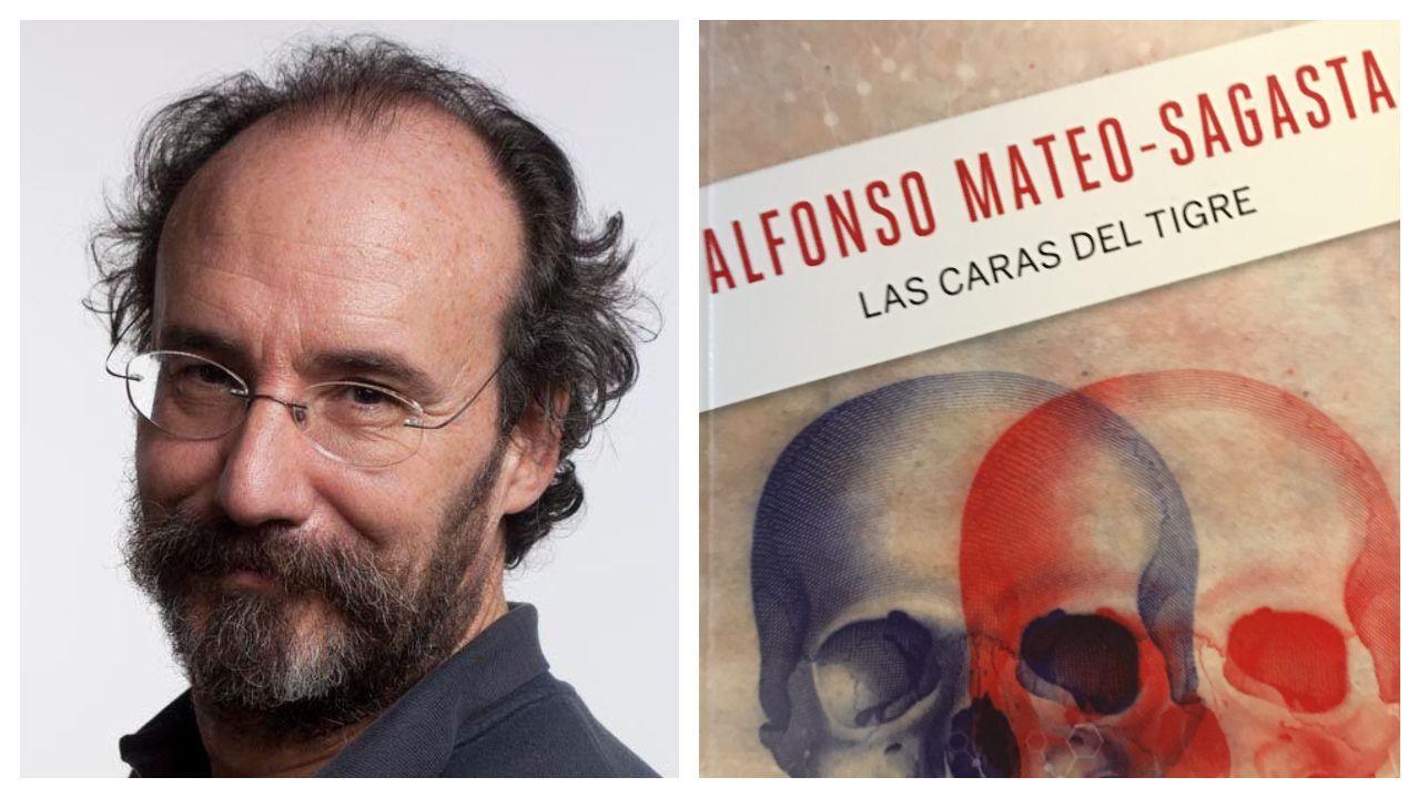 El escritor Alfonso Mateo-Sagasta; a la derecha, detalle de la portada del libro de la colección de La Voz