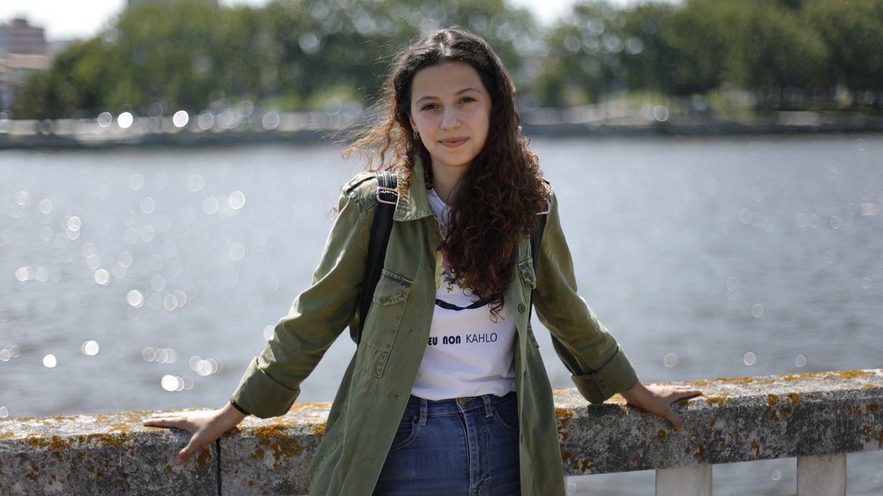 Andrea Sánchez, alumna del curso