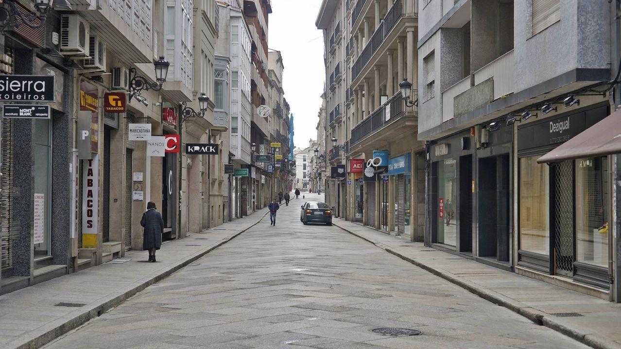 La ciudad de Ourense el segundo día del Estado de Alarma por emergencia sanitaria originado por el coronavirus COVID-19. Rúa San Domingos