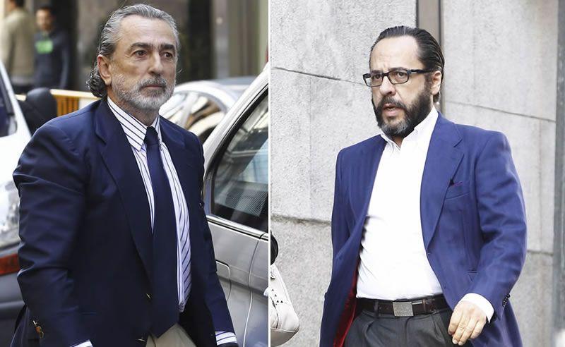 Correa y El Bigotes, ante el juez.Baltasar Garzón durante su última visita a Galicia en febrero