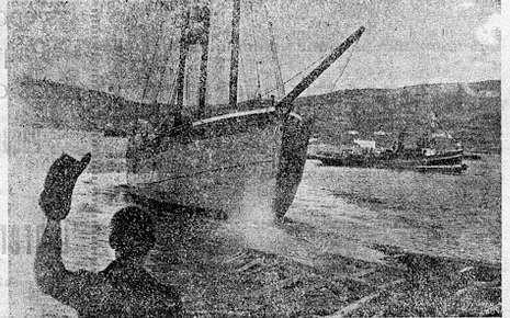 Botadura del «Julita», en las fiestas de las Mercedes del año 1920.
