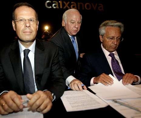 Gayoso, a la derecha, junto a los también imputados Pego y Rodríguez Estrada, en foto de archivo.