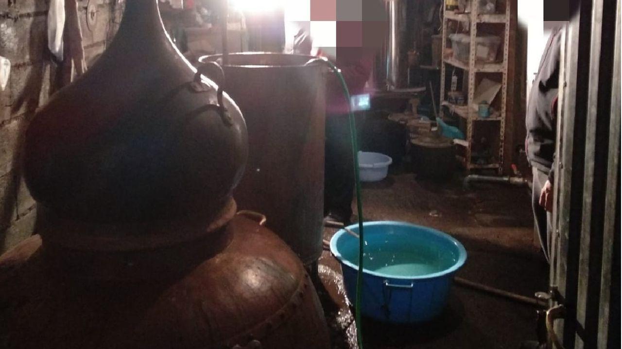 El alambique, que estaba guardado en un cobertizo, está valorado en unos 2.000 euros