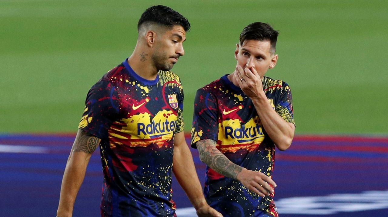 Los rostros célebres de la distancia social.Leo Messi en una imagen de archivo