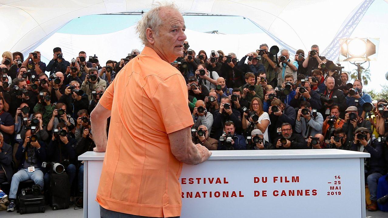 Murray, bromeando durante la presentación en Cannes del filme de Jarmusch «Los muertos no mueren»